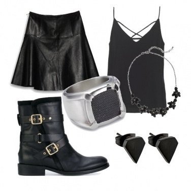 Outfit Rock stile
