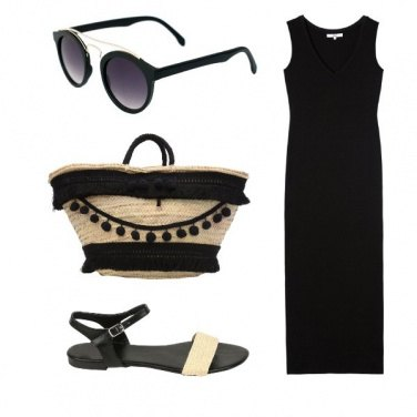 Outfit Beach in black