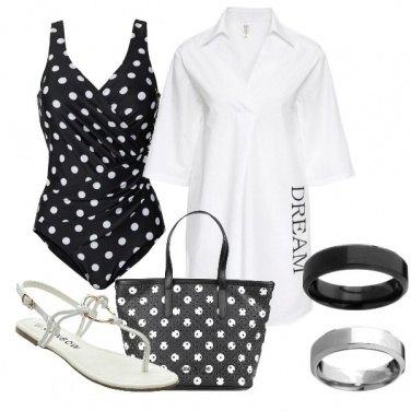 Outfit Bianco e nero con l\'intero