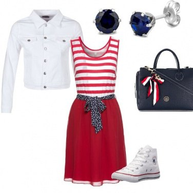 Outfit Redwhitenavy