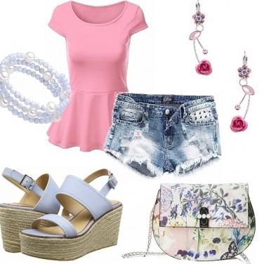 Outfit Romanticamente shorts