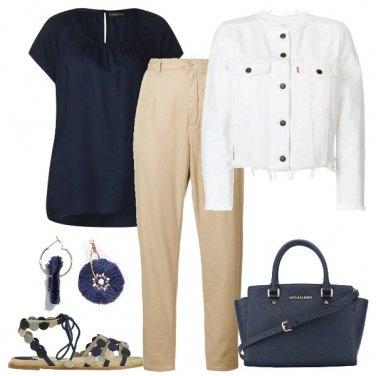 Outfit Con la giacchettina in denim