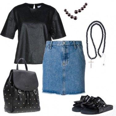 Outfit In nero anche con il caldo