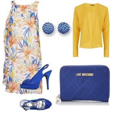 Outfit Limone e bluette