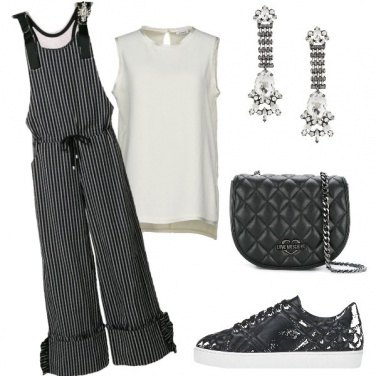 Outfit Trendy in black and white