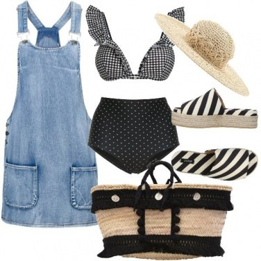 Outfit Mix and match in spiaggia