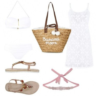 Outfit Al mare in bianco