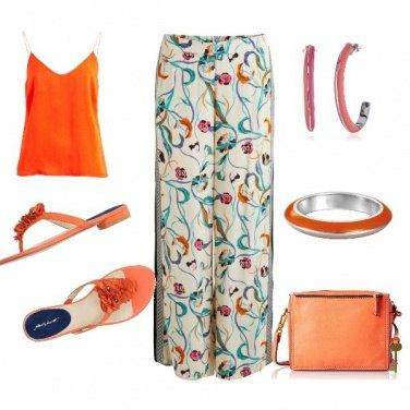 Outfit Pantalone fantasia. Orange