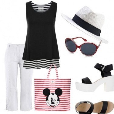 Outfit Pinocchietto chic