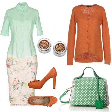 Outfit Colori allegri e pois