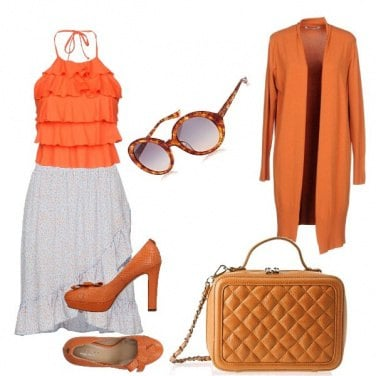 Outfit Orange time