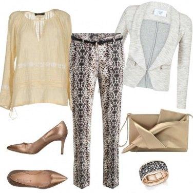 Outfit Bronzo e fantasia
