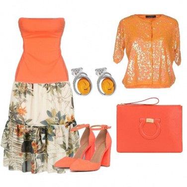 Outfit Matrimonio in arancio