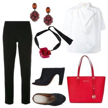 Outfit Dettagli rosso