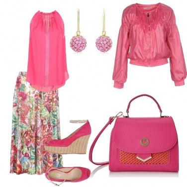 Outfit Rosa e fucsia