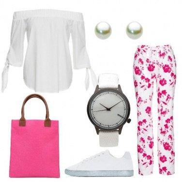 Outfit Freschi fiori fucsia