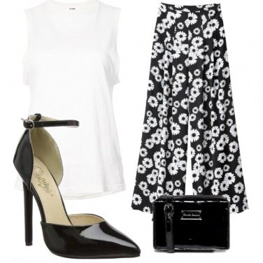 Outfit Nero margherita