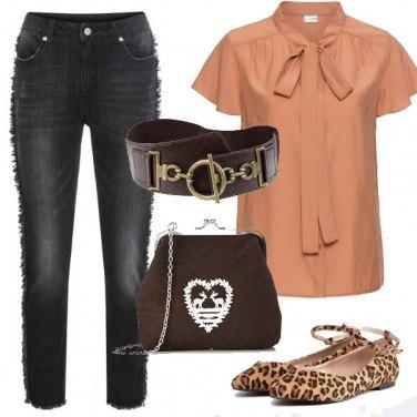 Outfit Il jeans con le frange