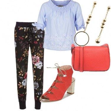 Outfit Il pantalone floreale