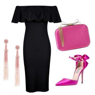 Outfit Elegante tubino nero