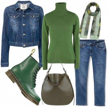 Como Combinar Botines Verde 9 Outfit Mujer Bantoa