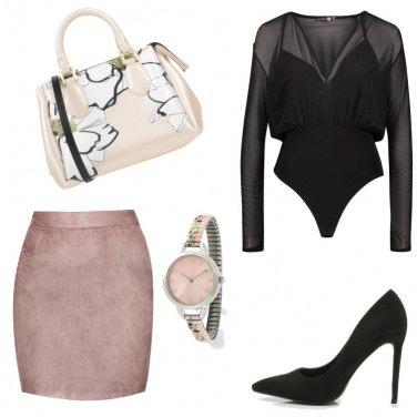 Outfit Rosa in ufficio..