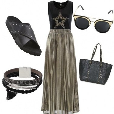 Outfit Gold & Rock