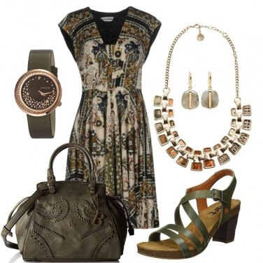 Outfit Medium Brown&Green