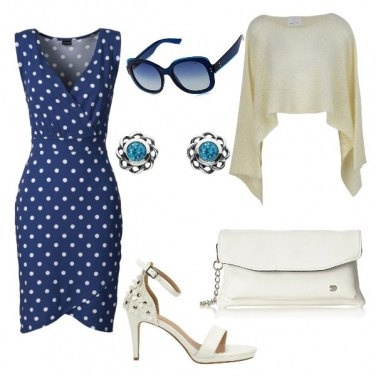 Outfit In ufficio a pois