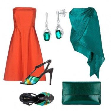 Outfit Arancio e smeraldo