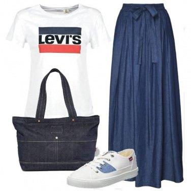 Outfit La maxy gonna di jeans
