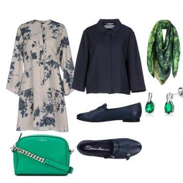 Outfit Ufficio blu e verde
