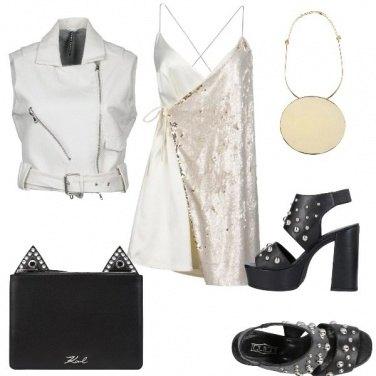 Outfit Borchie e paillettes rock