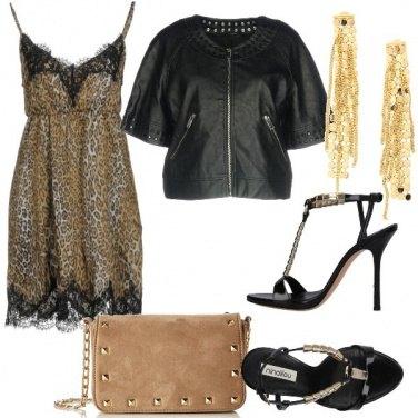Outfit Vestitino lingerie e mood rock