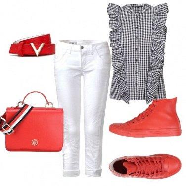 Outfit Mi piace il rosso