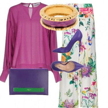 Outfit violet floreal