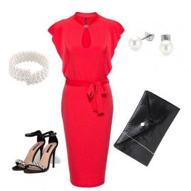 Outfit Il rosso che fa la differenza