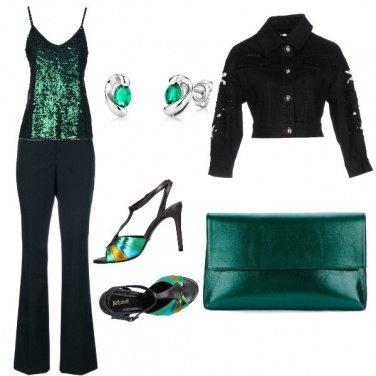 Outfit Smeraldo e noir