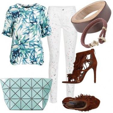 Outfit Marrone e tropical