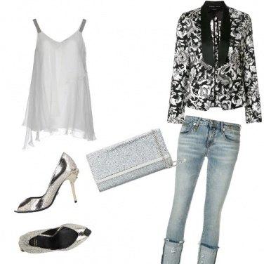 Outfit Serata argento