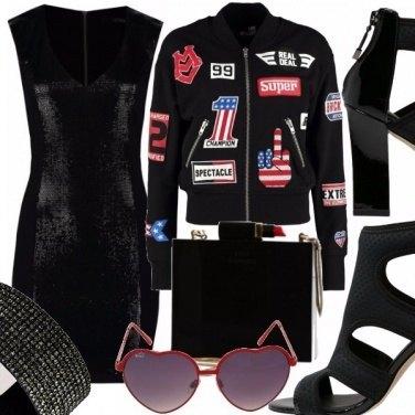 Outfit little black rock dress
