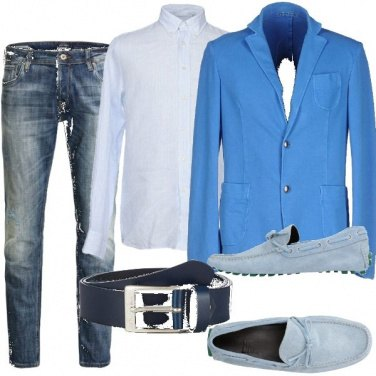 Outfit Uomo in blu