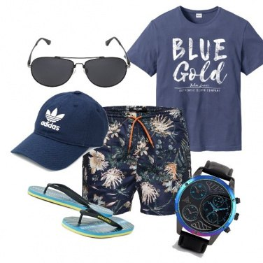Outfit Mare blu