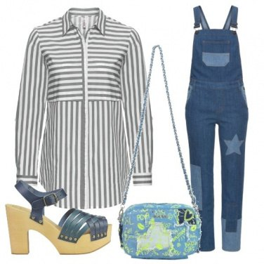 Outfit Salopette in denim
