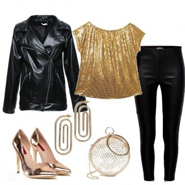 Outfit Rock in oro