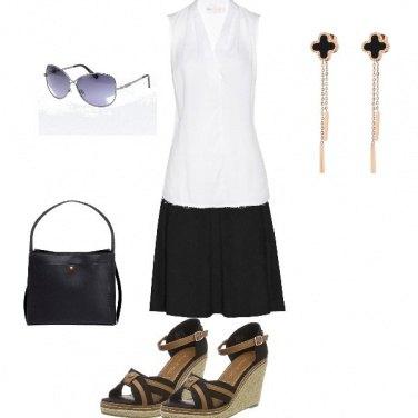 Outfit Casual bianco e nero