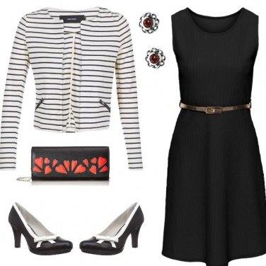Outfit Chic in nero e bianco