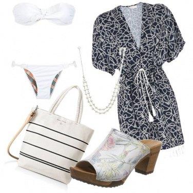 Outfit Sirena in bianco e nero