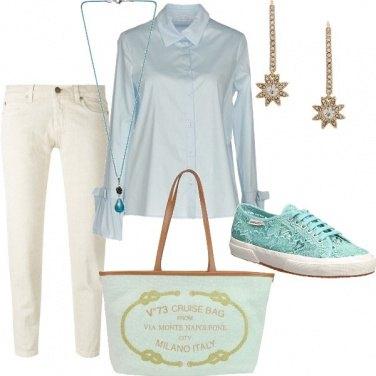 Outfit Turchese pastello