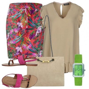 Outfit Orologio verde